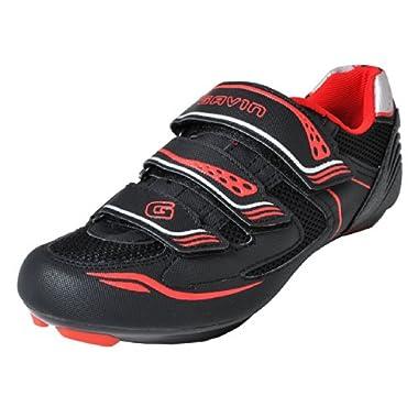 Gavin Men's VELO Road Bike Cycling Shoe, Black/Red, 44 EU