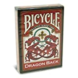 Bicycle Dragon Back Cards (Red) by UPSCC