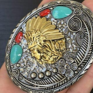 Belt Buckles Men New Indian Belt Buckle Rodeo American Western 3D Gold Best Quality Men Women 1 Cowboy