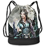 Bolsas de Gimnasia, Anime Drawstring Backpack Long Legs Beauty Print Travel Sport Yoga Gym Sack Bag Outdoor Bundle Backpack Laptop Bag Beach Rucksack for Men/Women