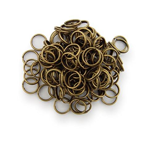 Schlüsselringe / split Rings 8mm Durchmesser Farbe Antik Bronze 15g ca.100 Stk ▶ Kostenloser Versand ◀