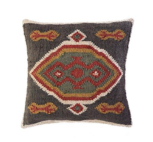 Jewel Fab Art Kissenbezug indische Handarbeit Hand bevorstand Home Dekorative Kissen Sham Jute Wolle Kissenbezug, quadratisch aus Indien