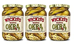 A southern tradition with a spicy, Wickles twist Your gumbo and Bloody Mary's will forever change with our Wicked Okra! Sweet with a little bit of heat Gluten Free & Vegan Made in the USA