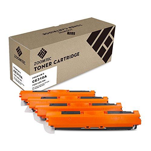 ZOOMTEC 126A CE310A CE311A CE312A CE313A Cartuccia di toner per HP Colour Laserjet Pro CP1025 CP1025NW CP1020, Laserjet Pro 100 Color MFP M175 M175A M175NW M275 TopShot M275