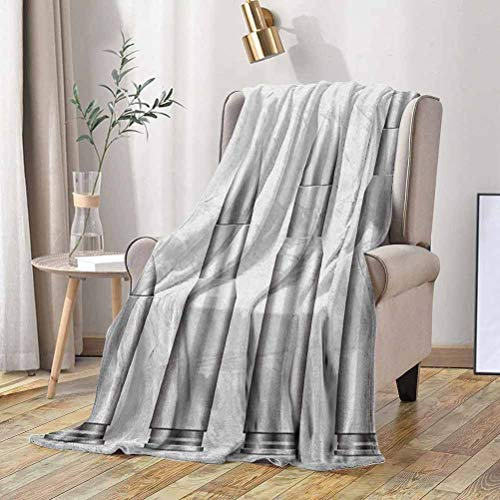 RenteriaDecor Silver Fleece Blanket Set of Bullets from Small to Big Military Ammunition Weapon Shotgun Firearm Defense 60x70 Inch Bed Blanket Microfiber Plush Flannel Blanket for Couch