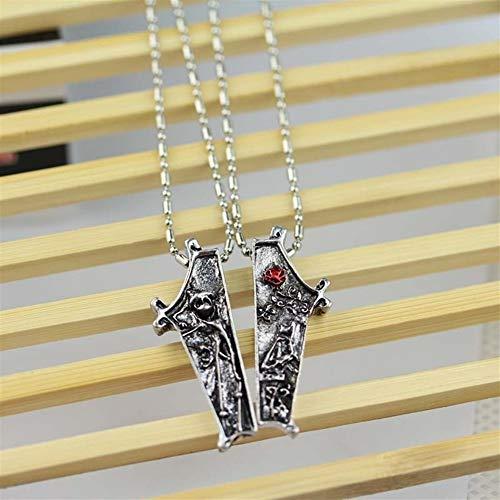 YUNGYE Pendant Par de joyería Collar Colgante Jack y Collares El Collar 1 del Conjunto Amante (Metal Color : Silver)