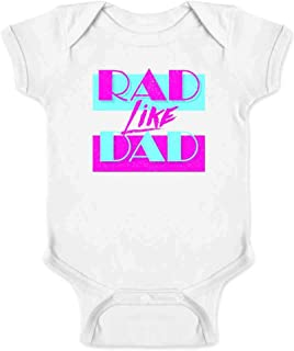 Rad Like Dad Father's Day Retro Graphic Aesthetic Infant Baby Boy Girl Bodysuit