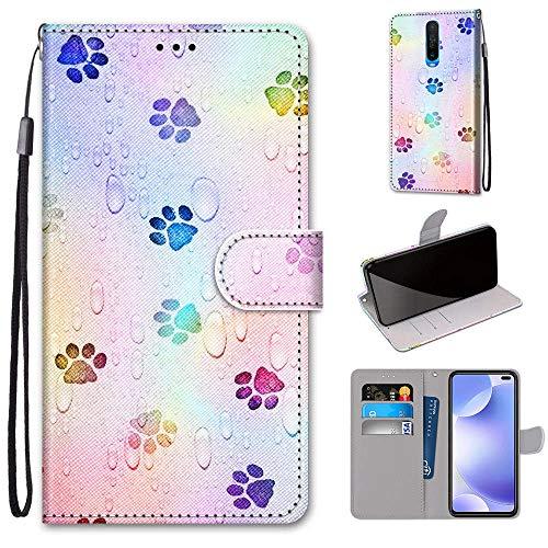 Xiaomi Pocophone X2 Hülle, SATURCASE Schön PU Lederhülle Magnetverschluss Brieftasche Kartenfächer Standfunktion Handschlaufe Handy Tasche Schutzhülle Handyhülle Hülle für Xiaomi Pocophone X2 (DK-18)