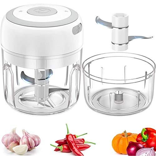 UMYMAYDO1 Mini picadora eléctrica de cocina, cortador de cebolla, picadora de ajos,...