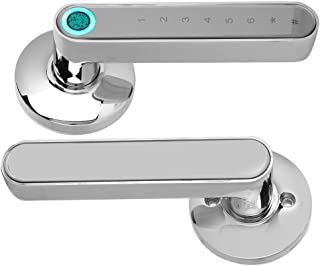Smart Door Lock, App Keyless Entry Door Lock met Bluetooth, vingerafdruk en toetsenbord, Smart Door Lock voordeur(Chrome)