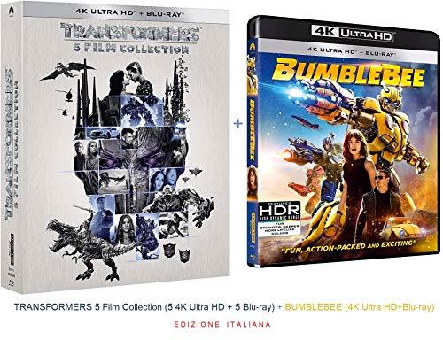 TRANSFORMERS 5 Film Collection (5 4K Ultra HD + 5 Blu-ray) + BUMBLEBEE (4K Ultra HD+Blu-ray) (Ed. Italiana)
