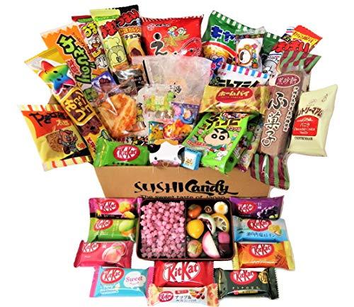 50 japanische Süßigkeiten 10 japanische Kit Kat 30 Snack und Süßigkeiten plus 10 harte Süßigkeit Konpeito Bento Box