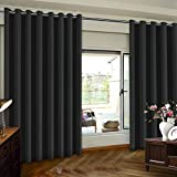 Extra Wide Premium Thermal Insulated Blackout Curtain Panel, Sliding Door Insulated Drape, Soundproof Room Divider Curtains, Energy Efficient Patio Door Curtain Panel, 100' x 96', Beige One Panel