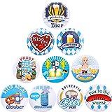 30 Piezas de Decoraciones de Oktoberfest, Oktoberfest Festivities Style Pins Buttons Oktoberfest...