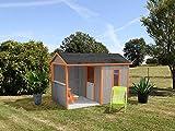 SOULET Spielhaus'Cyrielle' mit Anbau Garten Holzhaus Kinderspielhaus ***NEU***