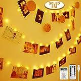Anpro 50 LED Luci Foto con Mollette - Telocomando Striscia...