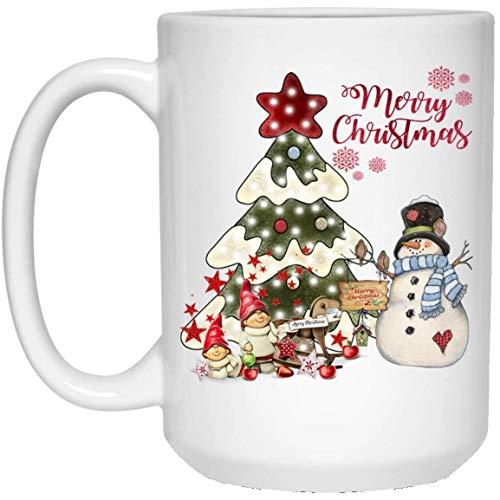 YaMe Frohe Kerstmis, met sneeuwman, grappige mok, perfect cadeau voor je vriend, vriend, collega, keramiek, koffiekopje, theekopje, (witte kopje) ^ 5