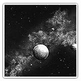 Impresionantes pegatinas cuadradas (juego de 2) 10 cm BW – Sistema Solar Stars Planets Galaxy Fun calcomanías para portátiles, tabletas, equipaje, reserva de chatarras, neveras, regalo genial #35924
