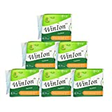 6 Pack x 24 Pads WinIon Anion Sanitary Napkins Pantiliner (Total 144 Pads) by Winalite - Care Free Good Absorption Prevent Leakage