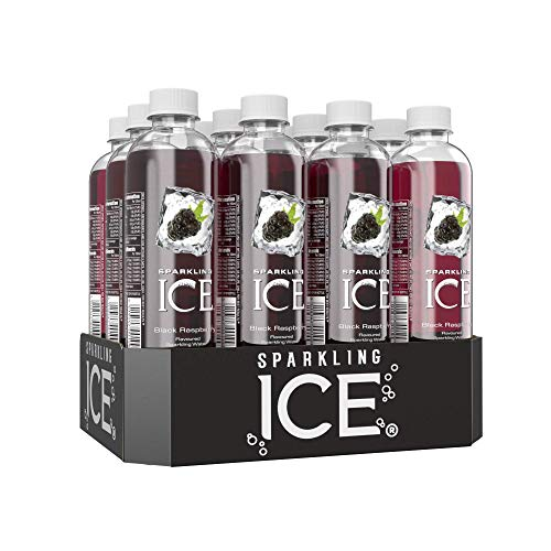 Sparkling Ice Black Raspberry Flavour Sparkling Water with antioxidants and Vitamins, No Sugar, 500ml Bottles (Pack of 12)