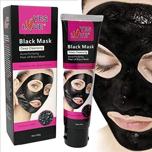 Mascara Negra Blackhead, Remover Black Mask, Mascarilla Exfoliante, Peel Off Mask, Deep Cleansing, Limpiadora y Reductora de Puntos Negros, Acné, Espinillas, Piel Muerta. Limpieza Profunda 60 ml.