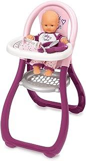 Smoby - Baby Nurse - Chaise Haute - Pour Poupons et Poupées - 2 Accessoires Inclus - 220342