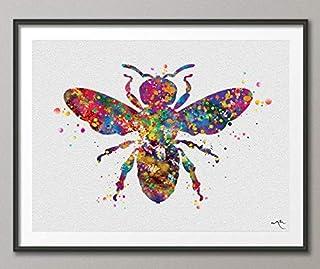 Bumble Bee Acuarela Impresión Miel Abeja Reina Abeja Arte Pared Abeja Guardián de Abejas Insectos Decoración de Pared Hoga...