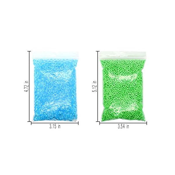 Hulluter 70PCS Slime Add Ins Slime Kit Floam Beads Fish Bowl Beads Mreaind Unicorn Slime Charms Glitter Jars Slime… 9