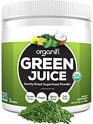 Organifi: Green Juice - Organic Superfood Supplement Powder - 30 Day Supply - USDA Certified Organic Vegan Greens- Hydrates and Revitalizes - Boost Immune System - Support Relaxation and Sleep from Organifi