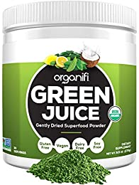 ORGANIFI GENTLY DRIED SUPER GREENS POWDER: Now you can get all your healthy superfoods in one glass...with No Shopping, No Blending, No Juicing, and No Cleanup ORGANIC HEALTHY GREENS POWDER IN A BOTTLE: Imagine drinking some of the world's greatest s...