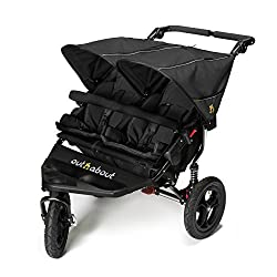 LATEST V4 MODEL Twin independant sun canopy's & peek-a-boo window & auto-locking fold NARROW 72cm WIDTH! All-terrain 3-Wheeler pushchair, suitable for use from Birth to 4 years (approx) Independent Multi-position adjustable backrest, including lie fl...