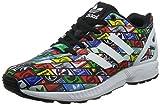 adidas ZX Flux, Zapatillas-ADIDAS-B24904-Hombre para Hombre, Blanco/Negro/Amarillo/Verde, 39 1/3 EU