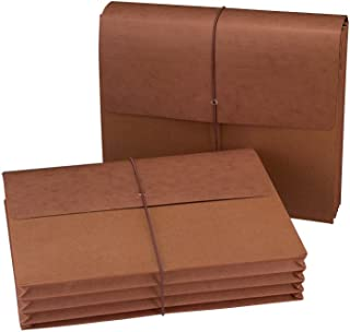 """Smead Expanding File Wallet with Flap and Cord Closure, 3-1/2"""" Expansion, Letter Size, Redrope, 10 per Box (72088)"""