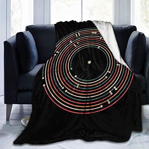 hotrilicoc map Labyrinth Throw Blankets Super Soft Cozy Warm Blanket Lightweight Flannel Blanket for Bed Couch 50' x40