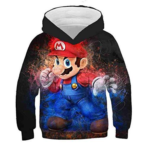 Super Mario Print 3D Kinder Hoodies, Anime Sonic Casual Sweatshirts Kinderpullover Harajuku Streetwear, Mädchen Jungen Cartoon Sweater