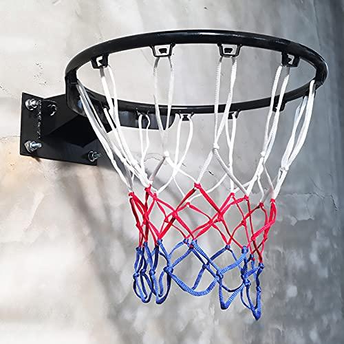 Aro de Baloncesto Canasta Tableros Portátil Exterior Borde de Baloncesto con Aro de 17,7', Montaje en Pared Anillo de Baloncesto por Niños Chicas Actividades Deportivas, Easy Dunk (Color : Black)