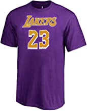 Outerstuff Lebron James Los Angeles Lakers #23 Youth HD Net Name & Number T-Shirt Purple