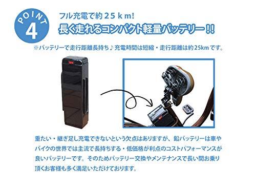 Airbike電動アシスト自転車26インチトルクセンサー式型式認定モデル207(ブラウン)