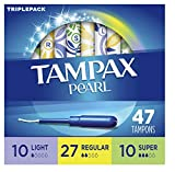 Tampax Pearl Plastic Triple Pack Light/Regular/Super Absorbency Unscented Tampons 50 Count tampons Mar, 2021