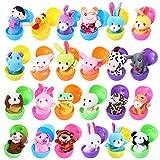 FunsLane Marionetas de Dedo con Huevos de Pascua, 24 Piezas de Marionetas de Mano Set...