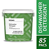 Amazon Brand - Solimo Dishwasher Detergent Pacs,...