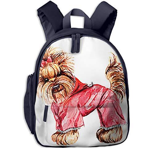 Kinderrucksack Kleinkind Jungen Mädchen Kindergartentasche Hund rosa Anzug Kapuze Backpack Schultasche Rucksack