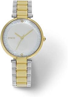 زايروس ساعة يد للنساء، انالوج بعقارب، معدن - ZAA158L060611