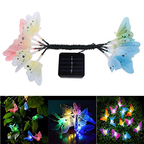 LEDMOMO Led Solar String Licht Multi Farbe Schmetterling Lichterkette Wasserdichte außenbeleuchtung Hausgarten Terrasse Rasen Party Decor Beleuchtung