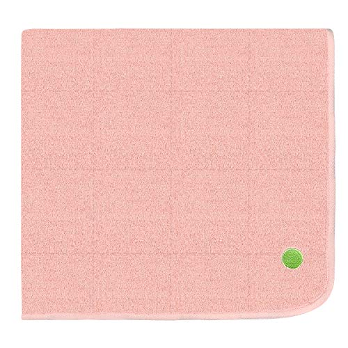 PeapodMats Leakproof Incontinence Mattress Pads   Washable, Reusable, Breathable Bedwetting Mats   Peach/Pink 3x3