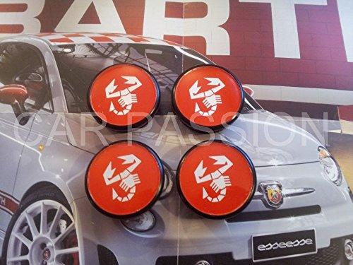 Cache-moyeux avec logo Abarth 50 mm