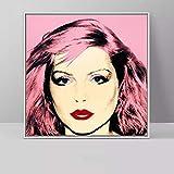 Unbekannt Andy Warhol Debbie Harry Pop-Art Leinwand Gemälde Porträt Poster und Drucke Moderne Dekoration Wandbilder 50cm x50cm No Frame