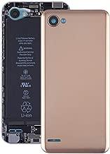 JIN Phone Parts Battery Back Cover for LG Q6 / LG-M700 / M700 / M700A / US700 / M700H / M703 / M700Y(Black) (Color : Gold)