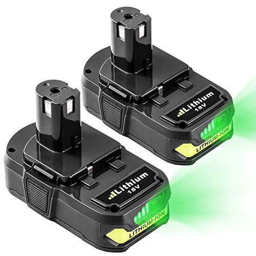 2-Pack 3.0Ah Lithium Battery for Ryobi 18V Lithium Battery Compatible with 18 Volt Battery 18L50 ONE+ P104 P105 P102 P103 P107 P108 P109 ONE+ Cordless Tool Batteries