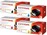 Cartridgex Juego completo de 4 cartuchos de tóner compatibles para Canon 729 i-SENSYS LBP-7010C LBP-7018C
